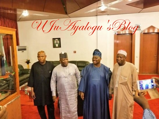 Photos Of PDP Governors As They Depart Nigeria To Visit Buhari In UK