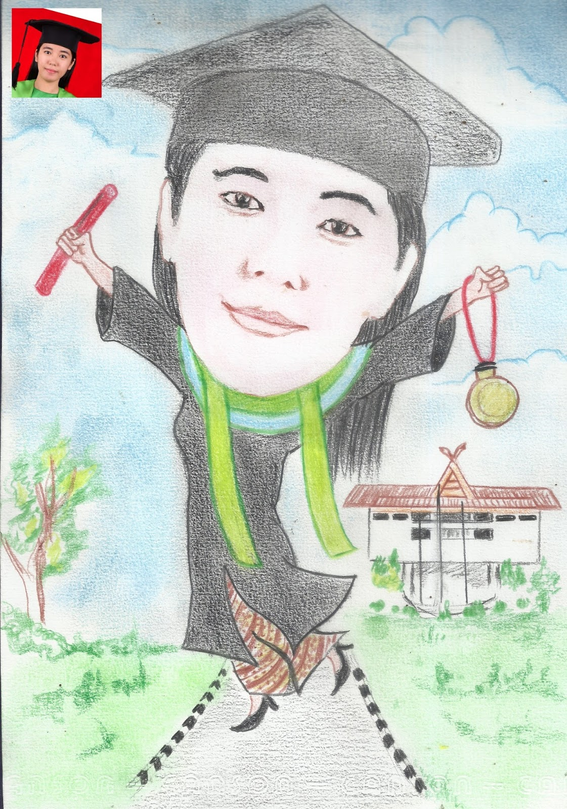 Karikatur Wisuda Pekanbaru ART Download Hadiah Kado Karikatur