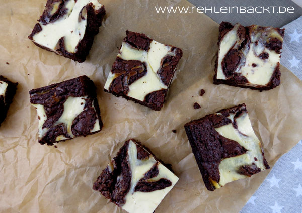 Cheesecake-Swirl-Brownies | Foodblog rehlein backt
