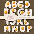 Alfabeto en forma de huevos estrellados en png
