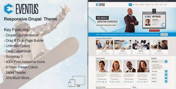 Responsive events website theme