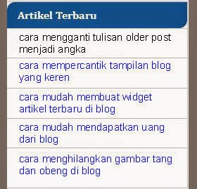 CARA MEMBUAT WIDGET RANDOM POST DI BLOG
