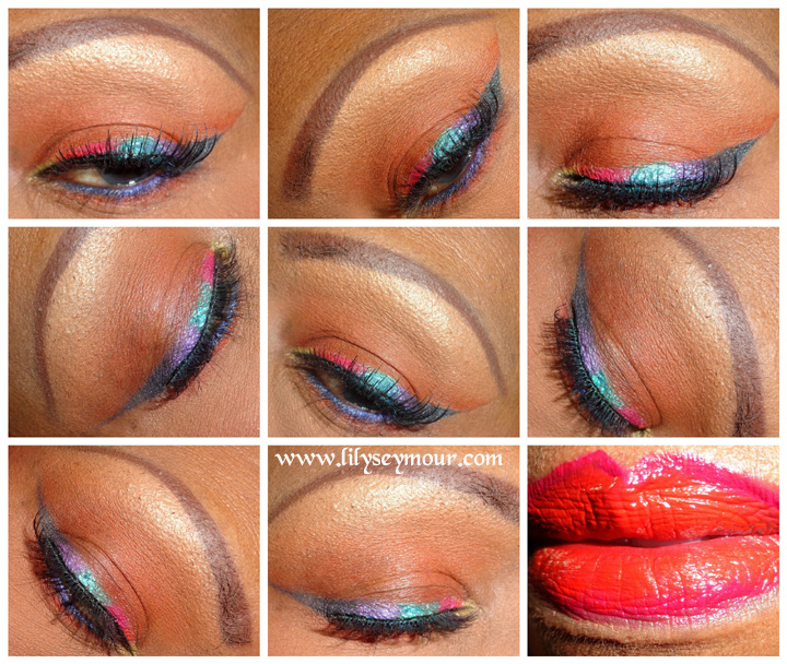 How To Create a Winged Rainbow Eyeliner for Hooded Eyelids