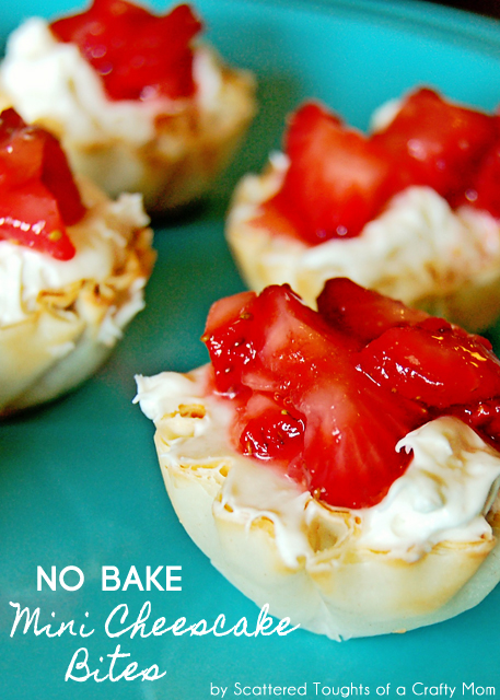 Easy, No Bake Mini Cheesecake Bites   Scattered Thoughts of a Crafty Mom
