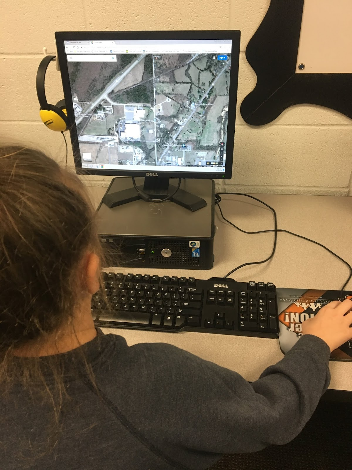 then they were able to switch to street view to find their house or the school students also used an interactive map maker to create their own map