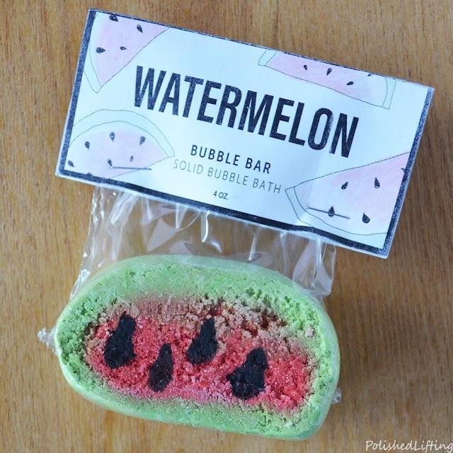 watermelon scented bubble bar