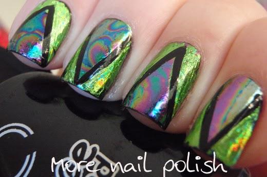 Oil slick on my nails ~ More Nail Polish