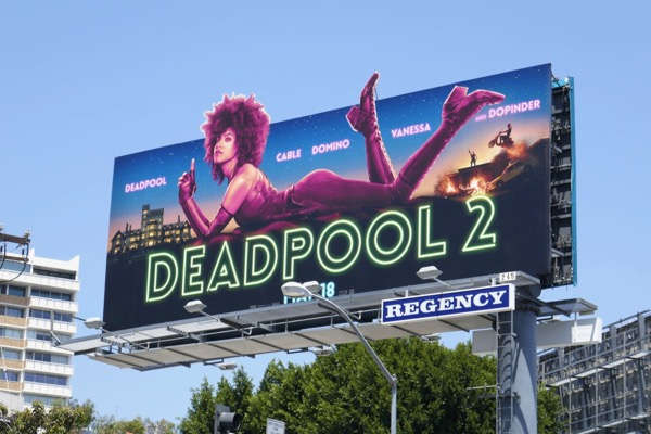 Deadpool 2 Domino Inherent Vice billboard