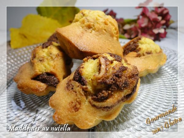 Madeleines sans gluten au nutella