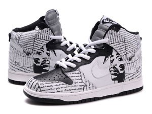 half off b1302 b9a1b Product Name  Nike Dunk High 2Pac Pattern Custom Model  Dunks Shoes, Nike  Dunks Sneaker Product Colorway  Grey Black Colored