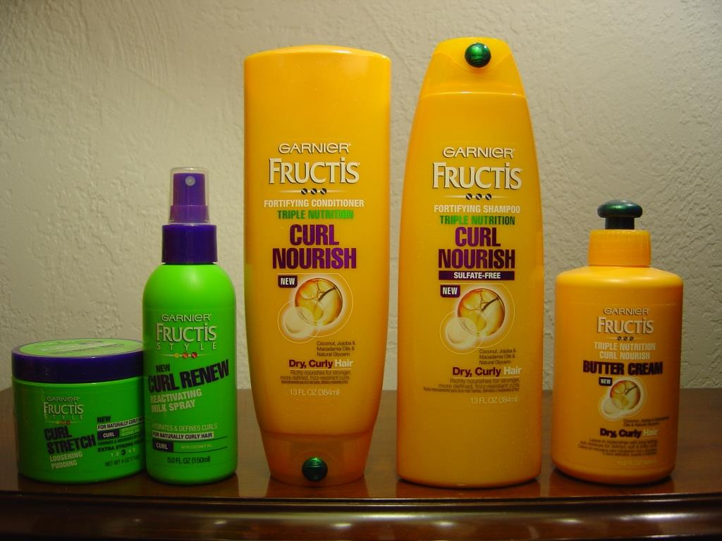 Garnier Fructis Triple Nutrition Curl Nourish Collection out of box