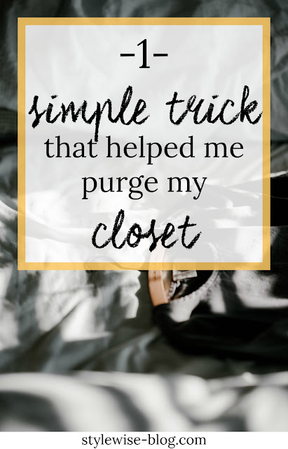 closet clean out 1 simple trick that helped me clear out my closet stylewise-blog.com