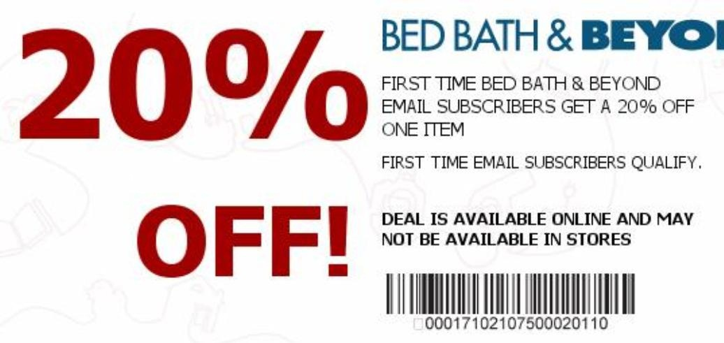 bed bath and beyond 20 off coupon does oakley give code www tapdance org 13554