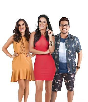 Nadja Haddad, Helen Ganzarolli e Leo Sampaio - Divulgação/SBT