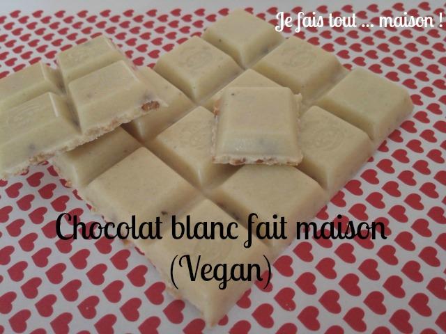 Recette chocolat blanc maison vegan