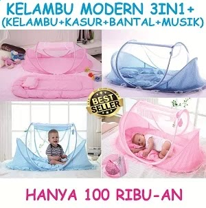 Kelambu Bayi Modern 3in1 + Musik