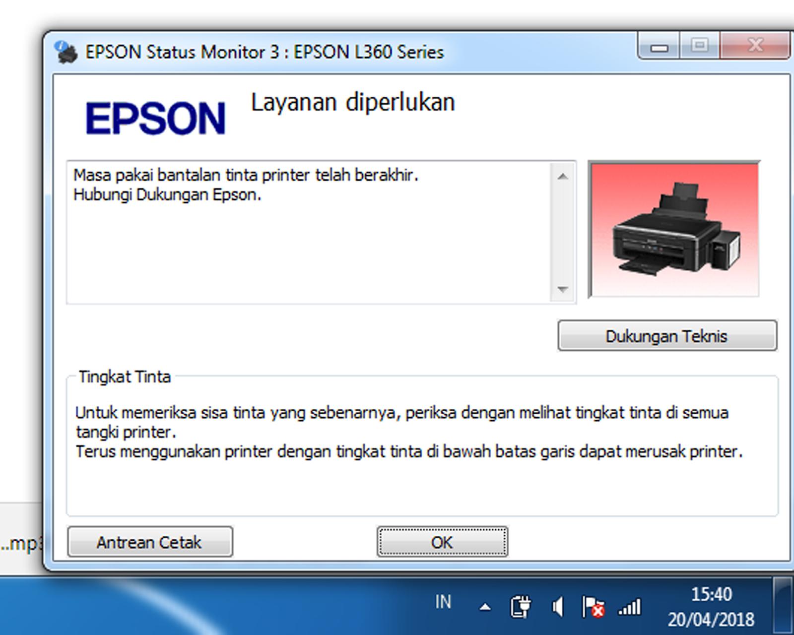 setting warna printer epson l360