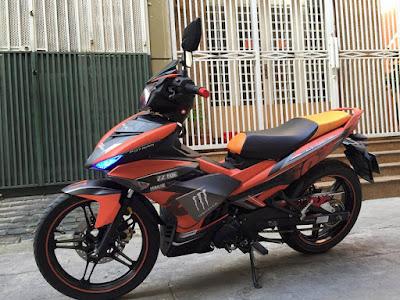Sơn phối màu xe Yamaha Exciter 150 màu cam đen cực ngầu