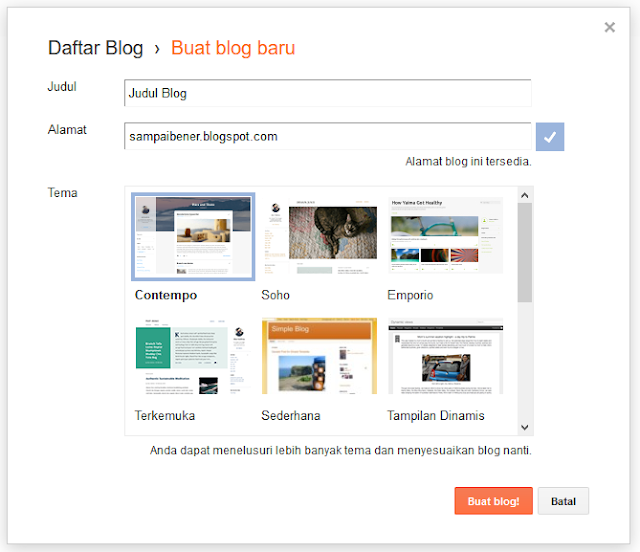 Panduan membuat blog