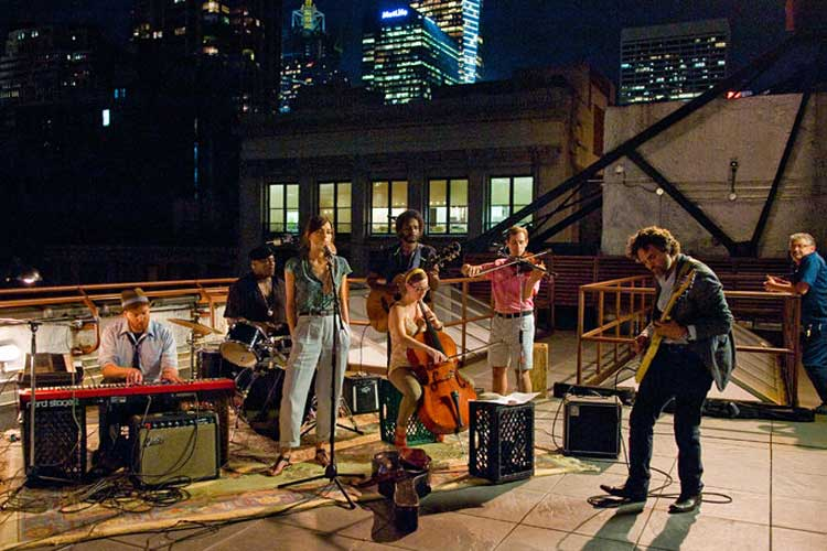 Keira Knightley and Mark Ruffalo lead the band in Begin Again.