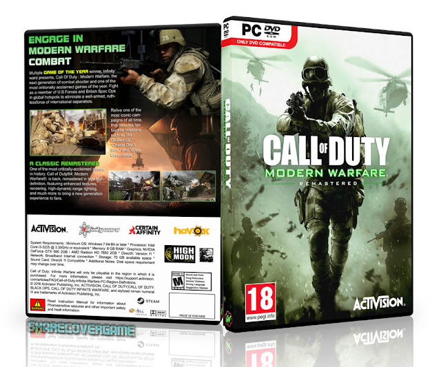 Call of Duty Modern Warfare Remastered Cover Box