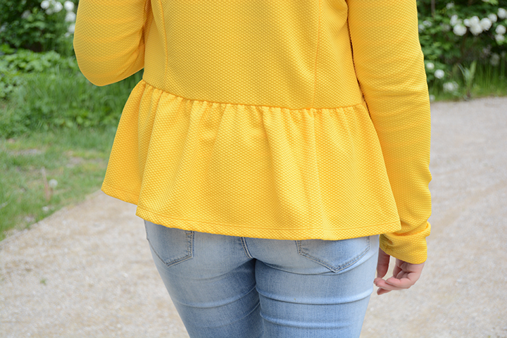 gilet jaune effet peplum