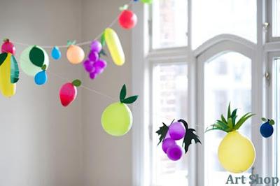 Cách làm bóng bay hình hoa quả trang trí sinh nhật cho bé 9