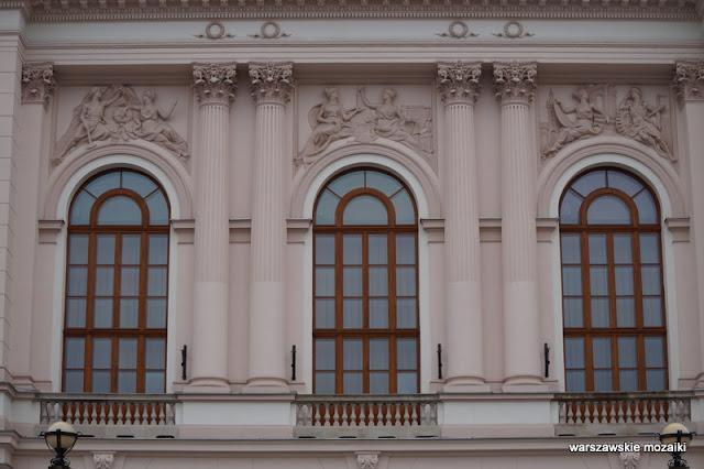 Warszawa Warsaw gmach główny Stefan Szyller uczelnia okna