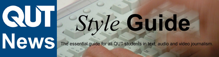 QUT News - Style Guide