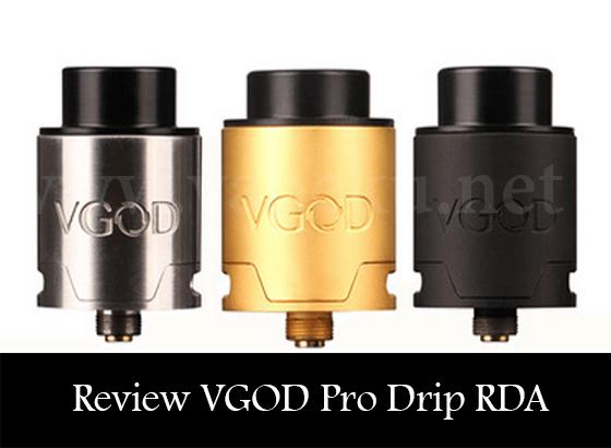 Review Vgod Pro Drip RDA, RDA Murah untuk Kompetisi