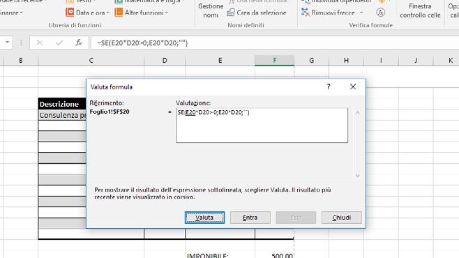 Come inserire formule e funzioni in Excel