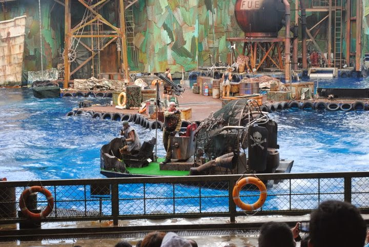 Waterworlda Show The Lost World Universal Studios Singapore
