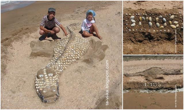 как лепить скульптуру из песка