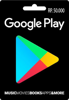 Voucher Google Play 50k Region Indonesia