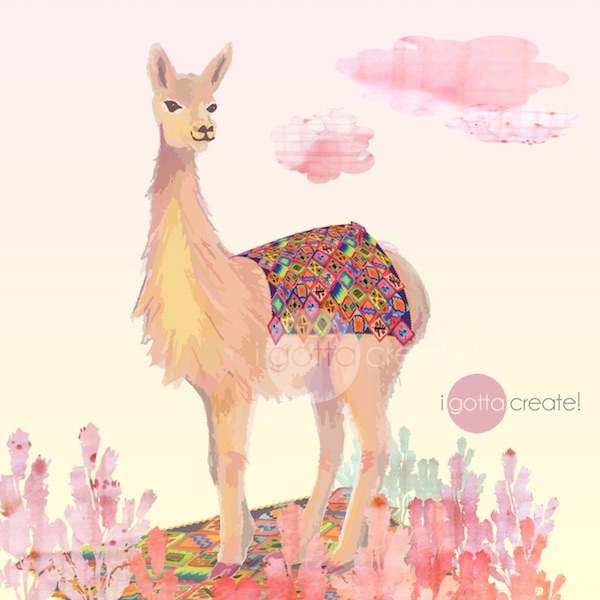 Christina Mann children's book illustration of Vicuna