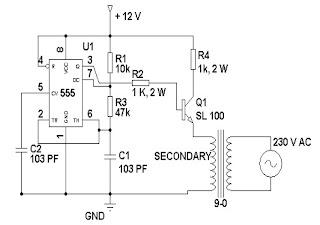 LoadedCircuit.Com: 12 Volt to 230 Volt Inverter Circuit