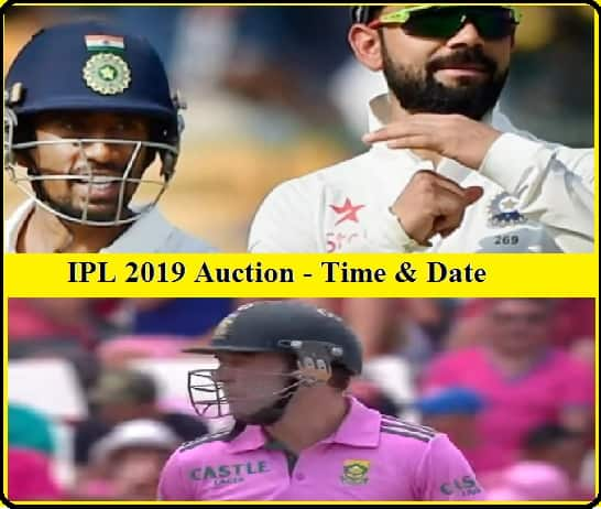 IPL, 2019, IPL 2018, Time, Date, Auction