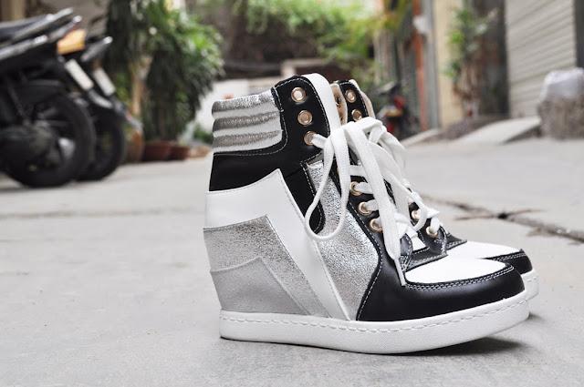 Giày tăng chiều cao nữ wedge sneaker đôi giày hấp dẫn cho bạn nữ mọi thời đại 3