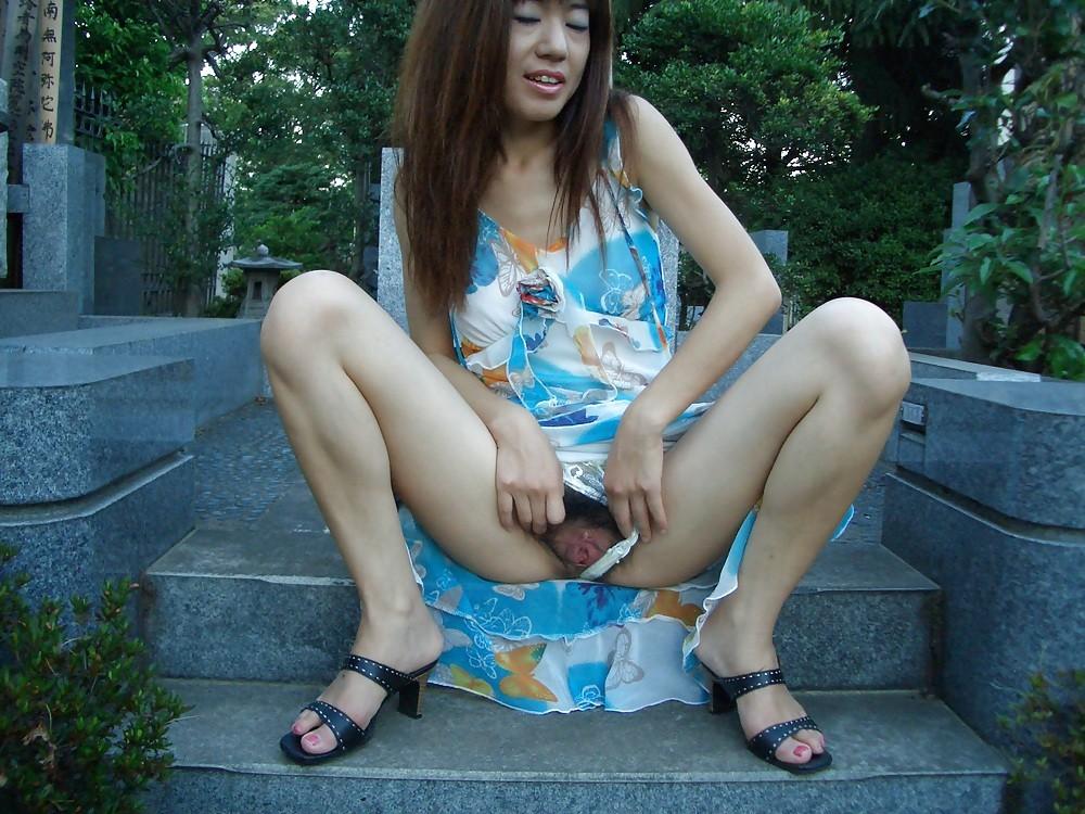 Outdoor cheerleaders wife asian