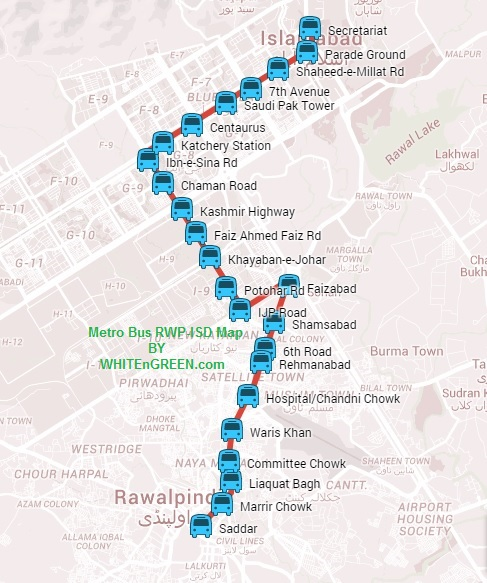 Metro Bus Islamabad: Metro-Bus Islamabad: Stations At Islamabad-Rawalpindi