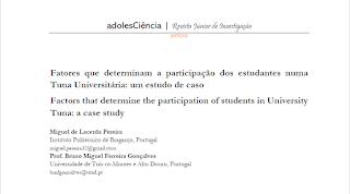 Fatores que determinam a participação dos estudantes numa Tuna Universitária: Um estudo de caso