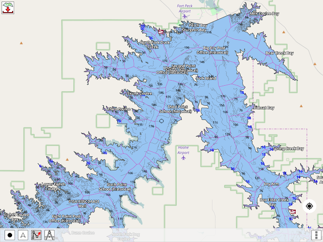 Fort Peck Depth Map