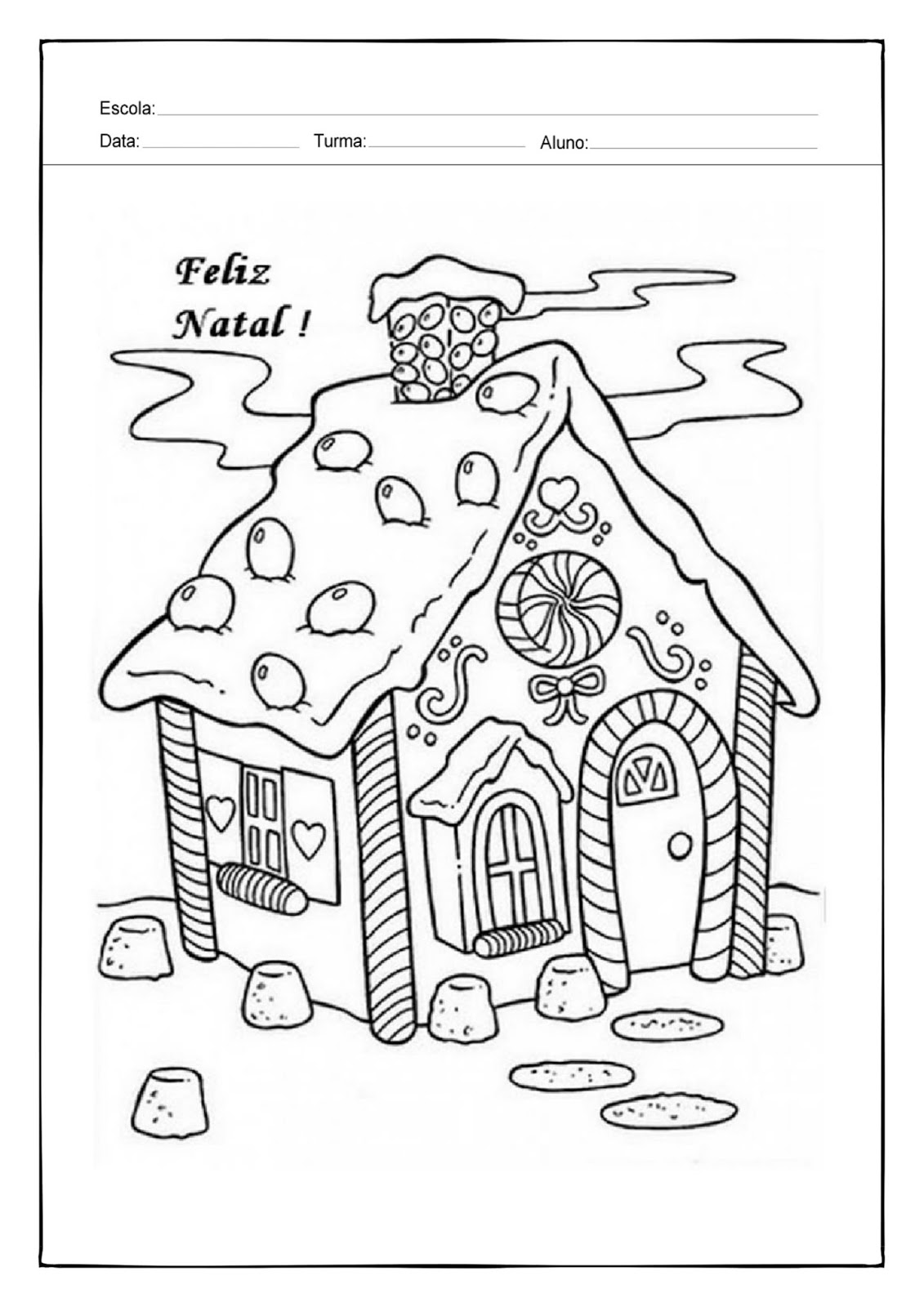 Modelos De Atividades Escolares Atividade Para Colorir Natal