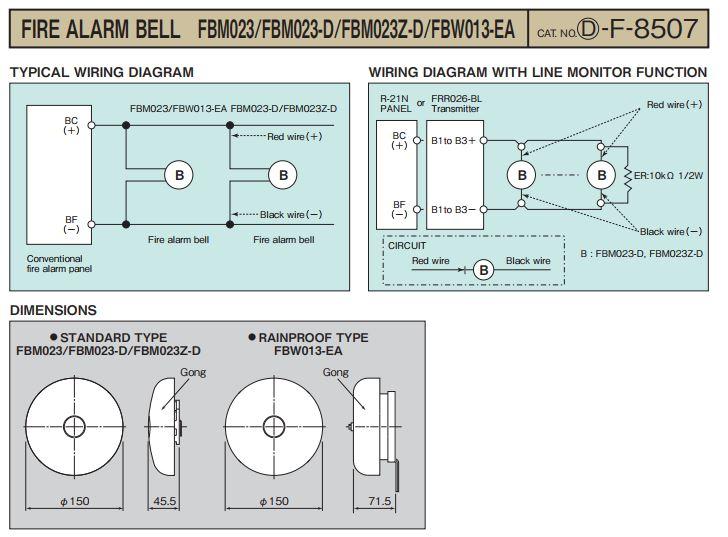 Fire Alarm Bell Wiring Diagram | prandofacilco