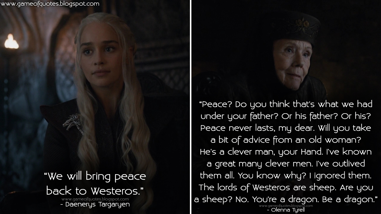 Image result for daenerys with olenna