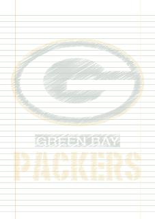 Papel Pautado Green Bay Packers rabiscado PDF para imprimir na folha A4