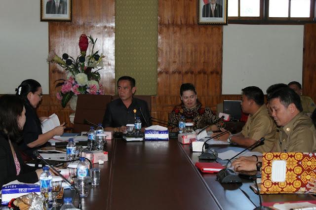 Karo Clay Didampingi Kabag Saroinsong Bahas Anggaran Bersama Komisi Satu