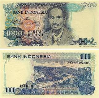 Uang Rp 1000,00 Tahun 1980