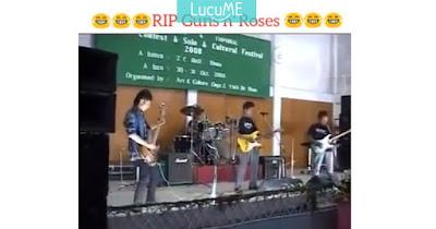 Band Lokal Bawakan Lagu Sweet Child O'Mine Ini Mendadak Viral, Bikin Ngakak Bro!
