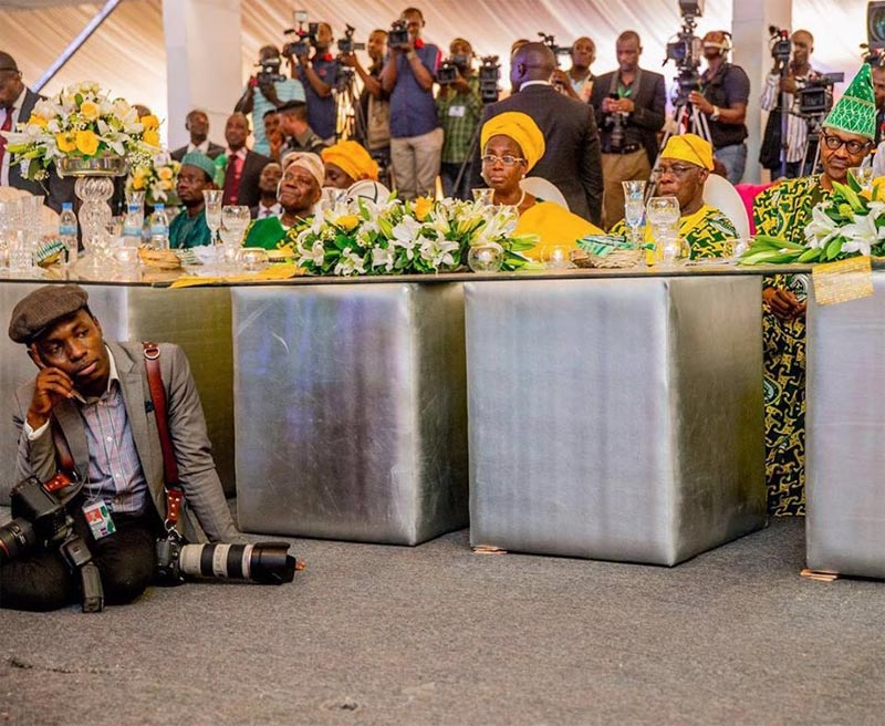 President Buhari's photographer Bayo Omoboriowo and his wife mark one year wedding anniversary